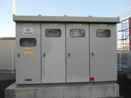 キュービクル(MAX700KVA 60Hz)2011年製