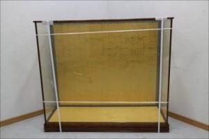 ケヤキ枠 3面ガラス ショーケース
