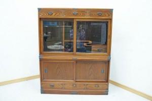 欅(ケヤキ)茶箪笥 茶棚 昭和のレトロな古民具を買取