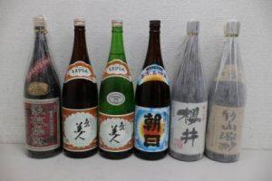 島美人・朝日・桜井など計6本の焼酎を買取