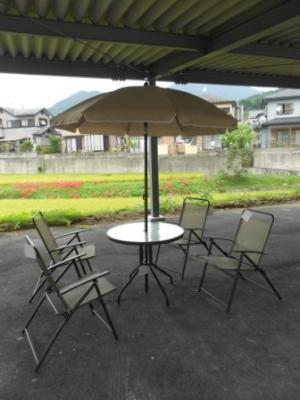 アウトドア用品 ガーデンチェア パラソル