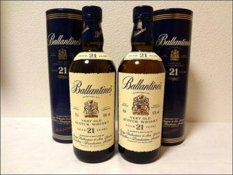 未開栓 古酒 箱付Ballantine's バランタイン 21年 2本セット