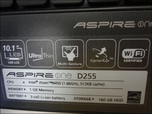 acer ASPIRE OS/Windous7