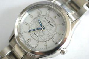スタージュエリー RADIO STAR(WHITE STAR) ソーラー電波時計 シェル&ダイヤ★買取いたしました!