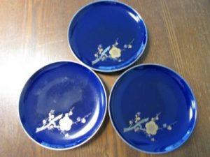 深川製磁/紅葉柄お皿・花柄お皿 買取いたしました!